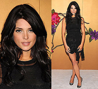 Photo of Ashley Greene Wearing Black Lace D&G Outfit at Tim Burton MOMA Exhibit in NYC