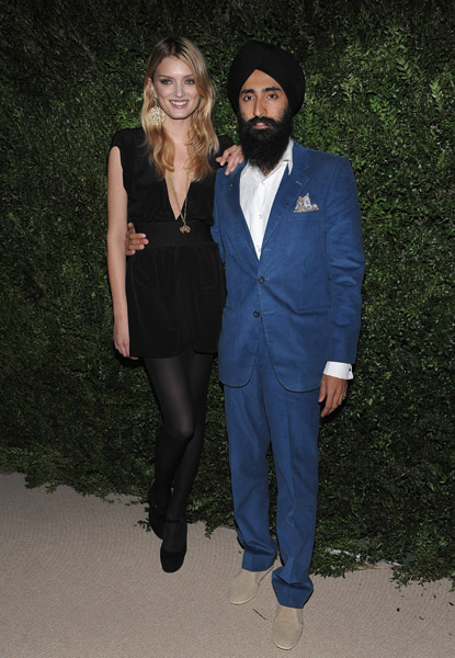 Lily Donaldson and Jewelry Designer Waris Ahluwalia