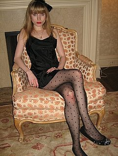 Sheer Heart Print Tights