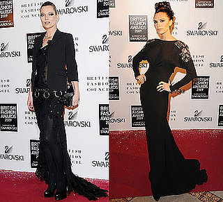 Photo of Kate Moss and Victoria Beckham at 2009 British Fashion Awards