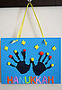 Lil Links: Handprint Menorahs For Hanukkah