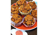 Oatmeal, Dark Chocolate Chip, Pumpkin Muffins