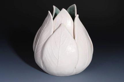 This Tulip Vase ($75) has a gorgeous organic shape and a pretty celadon interior glaze.