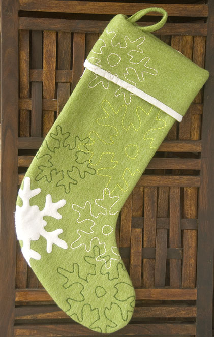 Subtle and sweet, I'm sold on India Rose's Snowflake Stocking ($49.95).
