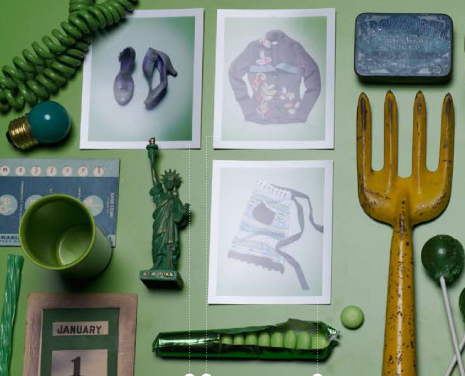 Create an art display at a party or gathering by using found objects and photographs. You can theme it so it's more holiday oriented, or highlight family photos and mementos.