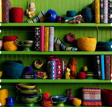 For an unexpected pop of color, paint a bookshelf in an unexpected hue, such as lime green or turquoise blue.