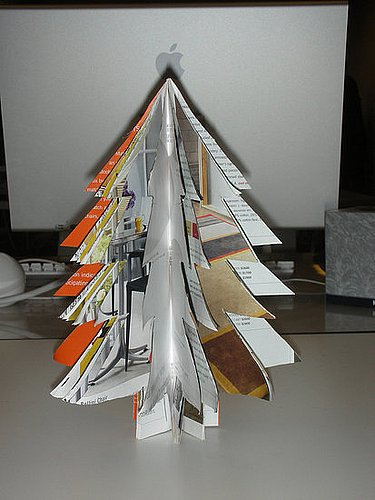 DIY: Recycled Catalog Christmas Tree