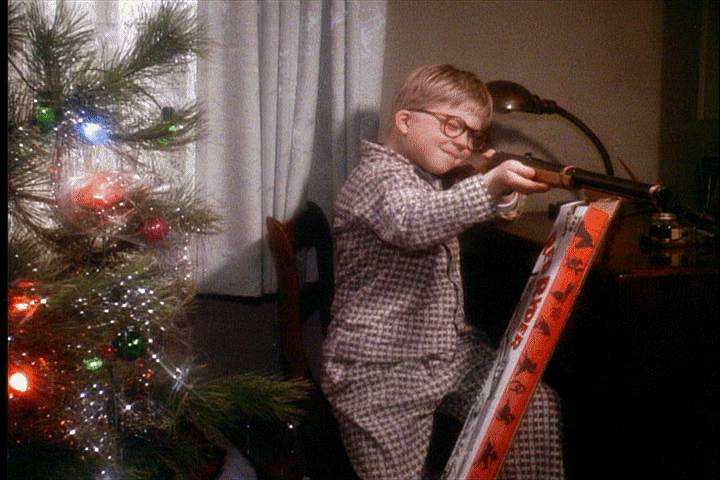 Watch out Ralphie, you may shoot an eye out! If you want a retro look for your tree, try using big LED bulbs that mimic these and loose tinsel. To get tinsel out of your carpet, use a lint roller.  Source