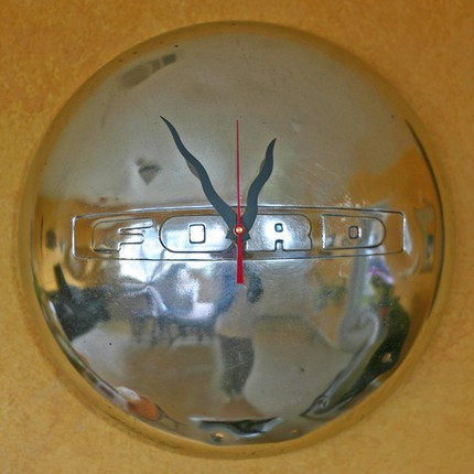 Auto enthusiasts will appreciate this Vintage Ford Hubcap Clock ($63). It's from a '40s-era Ford.