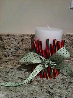 The Fifth DIY of Christmas: A Candy Cane Pillar Candle Cuff