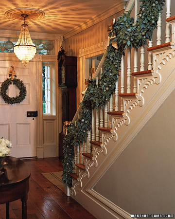 Eucalyptus makes a gorgeous and fragrant garland. Learn how to make it on Martha Stewart.