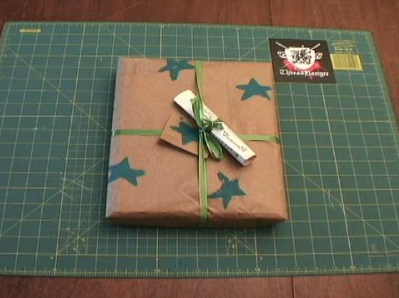 Head over to Instructables to learn how to create potato stamps to decorate plain paper bags for holiday gift wrap.