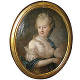 An 18th century Woman With Pearls in Her Hair Painting ($9,800) will help you to get the look in your home.