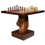 Chess fan? Why not play a match on this Horse Head Chess table ($9,000)?