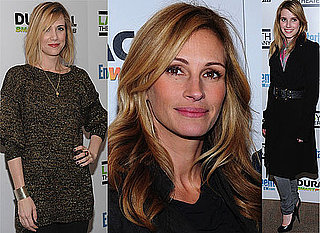 Photos of Julia Roberts, Emma Roberts, Sam Rockwell, John Krasinski, Kristen Wiig at Labyrinth Theater Benefit