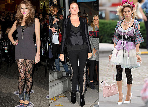 Stella McCartney, Sarah Jessica Parker and Zoe Salmon in Lace Leggings