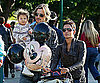 Photo Slide of Halle Berry, Gabriel Aubry, and Nahla Aubry at Disneyland