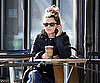 Slide Photo of Keri Russell Eating in NYC