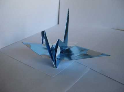 Hung from your ceiling, this Set of 7 Origami Shiny Blue Paper Cranes ($5) will fly you into the new year in style.