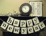 For the shabby chic reveler, this Happy New Year Double Banner Garland ($23) is a must.