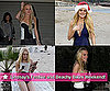 Photos of Lindsay Lohan in a Bikini With a Santa Hat and at a Holiday Party
