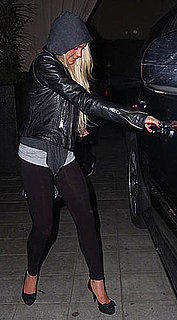 Photos of Lindsay Lohan Wearing Black Leggings in LA