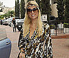 Slide Photo of Paris Hilton Wearing Camouflage in LA Shopping