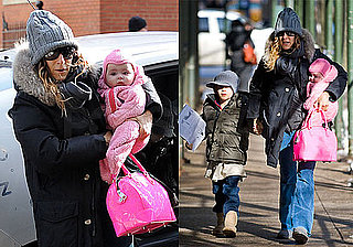 Photos of Sarah Jessica Parker, James Wilkie and One of the Twins Together in NYC