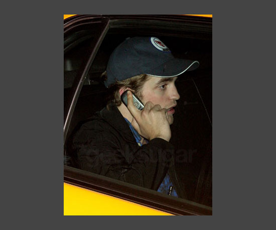 7. Robert Pattinson's Old School Cell Phone