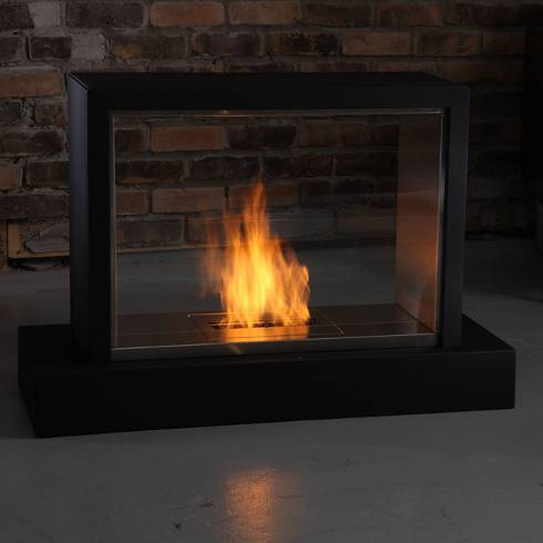 "Another pick of hers was the Insight Ventless Fireplace. Check out these 10 Chimney-Free Portable Fireplaces for other styles to suit your tastes. She jokes, ""You can lend it to your friends when they are having a romantic date at their home."""
