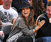 Slide Photo of Eva Longoria Cheering On the Spurs in NYC