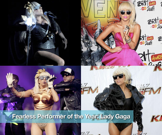Lady Gaga's Stage Outfits of 2009