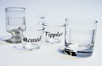 Learn how to spark conversation by etching your glassware, courtesy of ReadyMade.