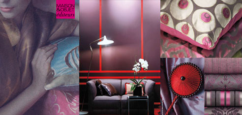 Upholstery trends will be revealed this month when the design industry gathers in Paris from Jan. 22-26 at Maison&Objet éditeurs. The annual international event showcases the new 2010 collections of upholstery fabrics, and unveils must-have palettes, patterns, and materials to come.