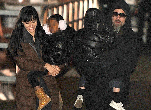 Photos of Angelina Jolie and Brad Pitt with Their Kids on the Set of Salt in New York City
