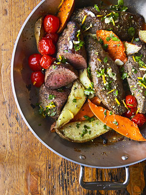 Beef and Sweet Potato Pan Roast