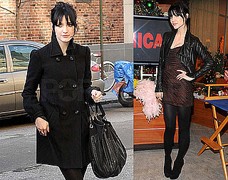 Photos of Ashlee Simpson On Her Way Into A Morning Show in NYC