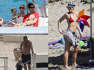 Photos of Gwen Stefani in a Bikini in St. Bart's With Gavin, Kingston, And Zuma