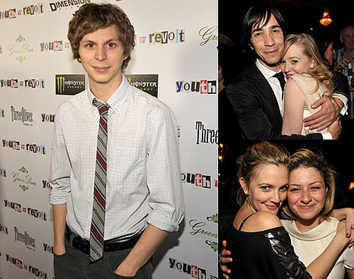 Photos of Michael Cera, Justin Long, And Drew Barrymore Premiering Youth in Revolt in LA