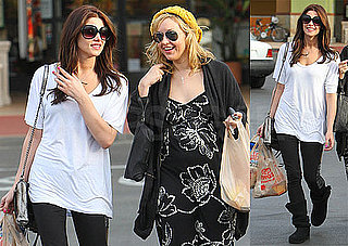 Photos of Ashley Green Grocery Shopping in LA Wearing a White Tee