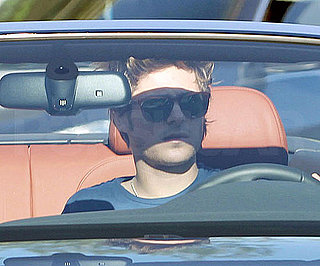 Slide Photo of Zac Efron in His New Audi in LA