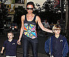 Slide Photo of Victoria Beckham and Cruz and Romeo at Movies