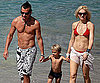 Slide Photo of Gwen Stefani and Gavin Rossdale with Kingston in St.Bart's