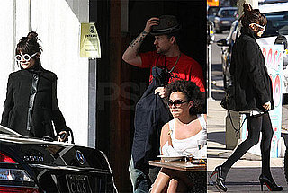 Photos of Nicole Richie and Joel Madden Getting Food and Going to Jessica Alba's House in LA