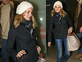 Photos of Diane Kruger Arriving in Berlin at Tegel Airport
