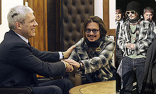 Photos of Johnny Depp Arriving in Belgrade 2010-01-12 11:30:00