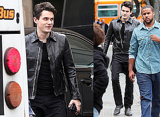 Photos of John Mayer Working on a Music Video