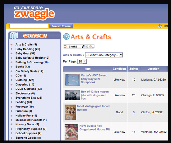 Swap Toys on Zwaggle