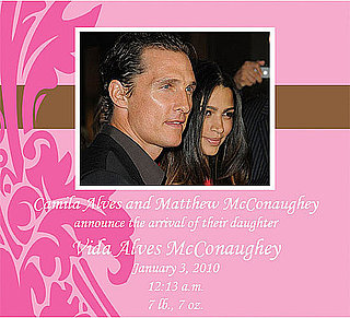 Matthew McConaughey and Camila Alves Have Baby Girl Vida McConaughey