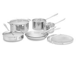 All-Clad Stainless-Steel 11-Piece Cookware Set